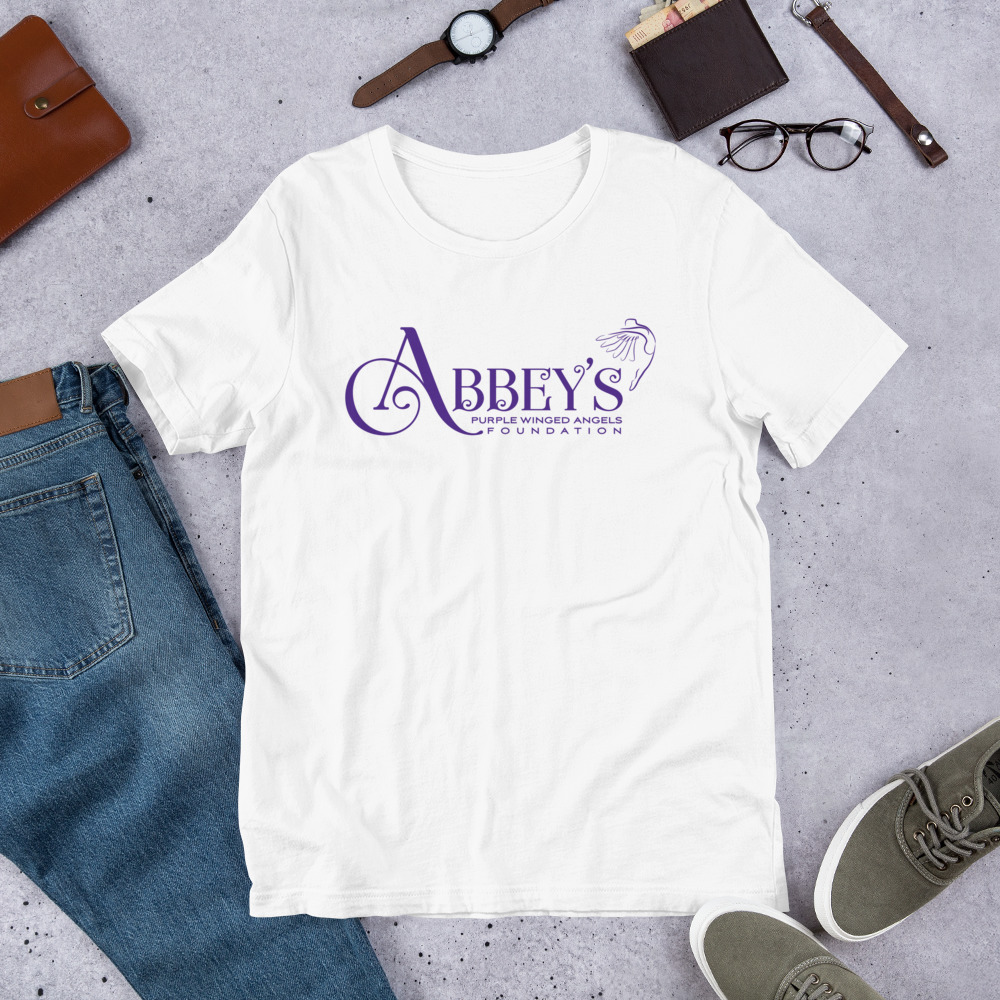 Short-Sleeve Unisex T-Shirt – Abbey's Purple Wings